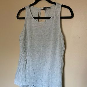 Cynthia Rowley linen tank with tie detail